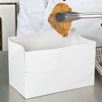 8 7/8 inch x 4 7/8 inch x 3 1/16 inch White Take Out Lunch / Chicken Box with Fast Top - 400/Case