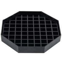 Choice 5 inch Black Octagonal Drip Tray with Removable Grate