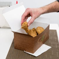 9 inch x 5 inch x 4 inch Hearthstone Take Out Dinner / Chicken Box with Tuck Top - 250/Case
