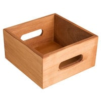 Choice Brown Wooden Display Crate / Condiment Caddy