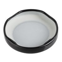 Acopa Black Milk Bottle Lid - 12/Case