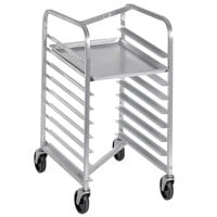 Channel 425SN 9 Pan End Load Stainless Steel Nesting Bun / Sheet Pan Rack - Assembled