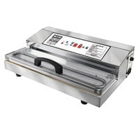 Weston 65-0401-W Pro-3000 Stainless Steel External Vacuum Packaging Machine with 15 inch Seal Bar - 120V