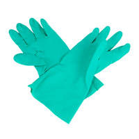 Premium 11-Mil Green Embossed Unsupported Nitrile Gloves - Small - Pair - 12/Pack