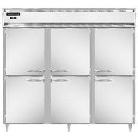 Continental DL3FE-SS-HD 86 inch Extra-Wide Solid Half Door Reach-In Freezer
