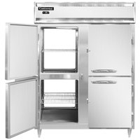 Continental DL2FE-SS-PT-HD 57 inch Extra-Wide Solid Half Door Pass-Through Freezer