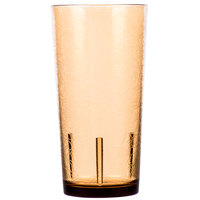 Cambro D16609 Del Mar 16 oz. Light Amber Customizable SAN Plastic Tumbler - 36/Case