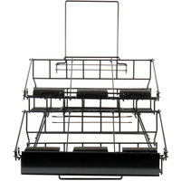 Choice 20 1/4 inch x 23 5/16 inch x 17 3/8 inch Black Wire 6 Compartment Airpot Rack with Drip Trays