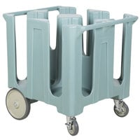 Cambro DC1225401 Poker Chip Slate Blue Dish Dolly / Caddy with Vinyl Cover - 4 Column