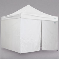 Caravan Canopy 21003506010 Alumashade Bigfoot 10' x 10' White Light-Duty Commercial Grade Instant Canopy Deluxe Kit with Side Walls
