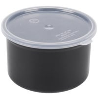Carlisle 034303 Black 1.5 Qt. Poly-Tuf Round Crock with Lid