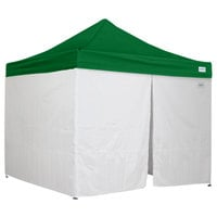 Caravan Canopy 21003605040 Traveler 10' x 10' Green Light-Duty Commercial Grade Instant Canopy Kit