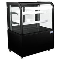 Avantco BCD-36 36 inch Curved Glass Black Dry Bakery Display Case