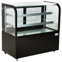 Avantco BCD-48 48 inch Curved Glass Black Dry Bakery Display Case