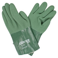 ActivGrip Green MicroFinish 12 inch Nitrile Gloves with Polyester / Cotton Lining - Medium - Pair