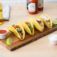 Choice 10 1/2 inch x 2 inch x 2 inch Stainless Steel Half Size Taco Holder with 3 or 4 Compartments