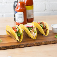 Choice 8 inch x 2 inch x 2 inch Stainless Steel Half Size Taco Holder with 2 or 3 Compartments