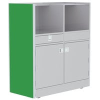Lakeside 4608G 48 inch Stainless Steel Mobile Setup Station with Green Laminate Finish