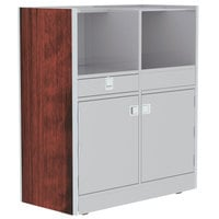 Lakeside 4608RM 48 inch Stainless Steel Mobile Setup Station with Red Maple Laminate Finish