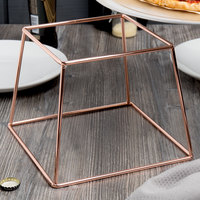 Choice 7 inch Square Rose Gold Metal Display Stand