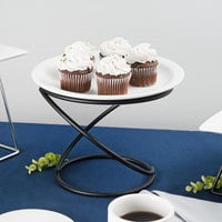 Choice 7 inch Black Swirl Metal Display Stand