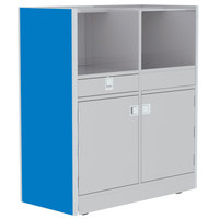 Lakeside 4608BL 48 inch Stainless Steel Mobile Setup Station with Royal Blue Laminate Finish