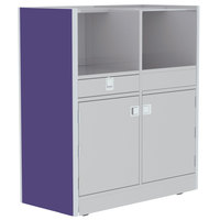 Lakeside 4608P 48 inch Stainless Steel Mobile Setup Station with Purple Laminate Finish