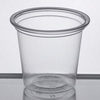 Choice 1.25 oz. Clear Plastic Souffle Cup / Portion Cup   - 100/Pack