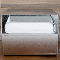 Vollrath 6512-28 Stainless Steel One Sided Countertop Fullfold Napkin Dispenser with Chrome Faceplate