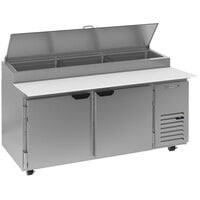 Beverage-Air DP67HC 67 inch Two Door Refrigerated Pizza Prep Table