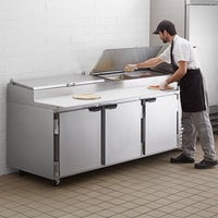 Beverage-Air DP93HC 93 inch Three Door Refrigerated Pizza Prep Table