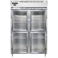 Continental DL2F-SA-GD-HD 52 inch Half Glass Door Reach-In Freezer