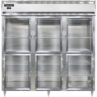 Continental DL3F-SS-GD-HD 78 inch Half Glass Door Reach-In Freezer