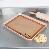Sasa Demarle SILPAT® AE295205-02 8 1/4 inch x 11 3/4 inch Quarter Size Silicone Non-Stick Baking Mat