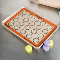 Sasa Demarle SILPAT® AES420295-22 Macarons 11 5/8 inch x 16 1/2 inch Half Size Silicone Non-Stick Baking Mat