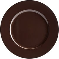 Tabletop Classics by Walco TRBR-6651 13 inch Brown Round Plastic Charger Plate