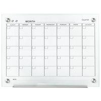 Quartet GC4836F Infinity 36 inch x 48 inch Frameless Magnetic White Glass Monthly Calendar Markerboard