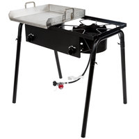 Backyard Pro Weekend Series GKIT-HF 32 inch Double Burner Outdoor Range with 15 inch Griddle Plate - 150,000 BTU