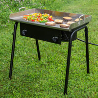 Backyard Pro Weekend Series GKIT-FL 32 inch Double Burner Outdoor Range with 30 inch Griddle Plate - 150,000 BTU