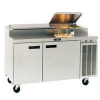 Delfield 18660PTBMP 60 inch Two Door Refrigerated Pizza Prep Table