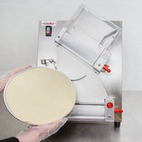Estella EDS12D Countertop 12 inch Two Stage Dough Sheeter - 250 Pieces/Hour