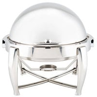 Choice Extra-Heavyweight 6.5 Qt. Round Dripless Stackable Stainless Steel Roll Top Chafer