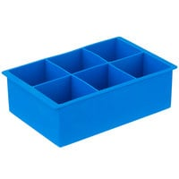 Franmara 8173 Blue Silicone 6 Compartment 2 inch Cube Ice / Dessert Mold