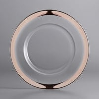 The Jay Companies 1875002CP 13 inch Copper Rim Round Glass Charger Plate