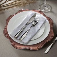 The Jay Companies 1270465 13 inch Rose Gold Baroque Round Plastic Charger Plate
