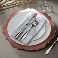 The Jay Companies 1270467 Round Rose Gold Scalloped Edge Plastic Charger Plate