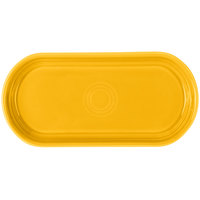 Fiesta Tableware from Steelite International HL412342 Daffodil 12 inch x 5 11/16 inch Oval China Bread Tray - 6/Case