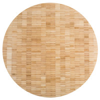 American Metalcraft B16 16 inch x 1 1/2 inch Bamboo Round Butcher Block Serving Board