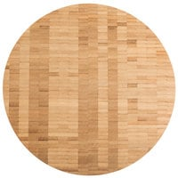 American Metalcraft B14 14 inch x 1 1/2 inch Bamboo Round Butcher Block Serving Board