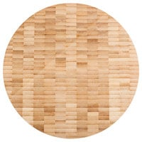 American Metalcraft B10 10 inch x 1 1/2 inch Bamboo Round Butcher Block Serving Board
